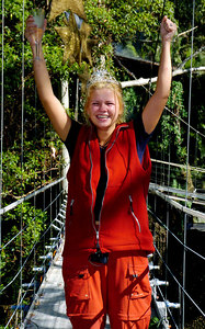 "GOLD COAST, AUSTRALIA / 10-FEB-2004 Kerry McFadden, winner of ""I'm a Celebrity, Get me out of Here"" PHOTO: CAMERON LAIRD (Ph: +61 (0)418238811)"
