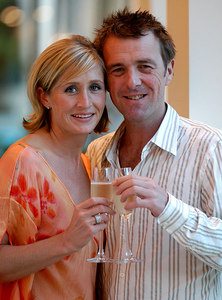 "Surfers Paradise, Queensland, AUSTRALIA / 14-MAY-2003 ""I'm a Celebrity, Get me out of here"" winner Phil Tufnell with partner Dawn Brown PHOTO: © CAMERON LAIRD (Ph: +61 418 238811)"