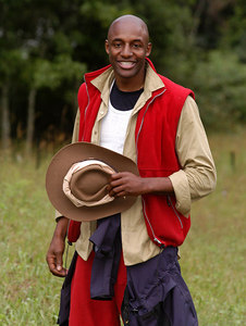 "Murwillumbah, Queensland, AUSTRALIA / 10-MAY-2003 ""I'm a Celebrity, Get me out of here"" runner-up John Fashanu PHOTO: GRANADA"