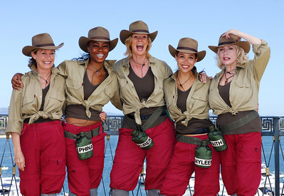 I'm A Celebrity contestants Jan Leeming, Phina Oruche, Lauren Booth, Myleene Klass and Faith Brown - PHOTO: CAMERON LAIRD (Ph: 0418238811)