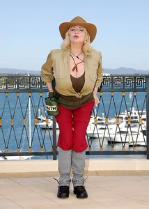 I'm A Celebrity contestant Faith Brown shows off her jungle outfit - PHOTO: CAMERON LAIRD (Ph: 0418238811)