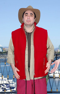 I'm A Celebrity contestant David Gest shows off his jungle outfit - PHOTO: CAMERON LAIRD (Ph: 0418238811)