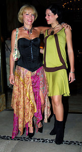 """""""I'm A Celebrity... Get Me Out Of Here"""" stars dressed to kill as they head to a """"Wrap Party"""" after the end of the 5th series.  Jilly Goolden with daughter Oriel - PHOTO: CAMERON LAIRD (Ph: +61 418238811)"""