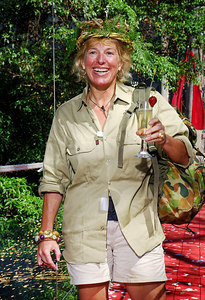 "Carol Thatcher exits the jungle in triumph after winning the 5th series of ""I'm A Celebrity... Get Me Out Of Here"" - PHOTO: CAMERON LAIRD (Ph: +61 418238811)"