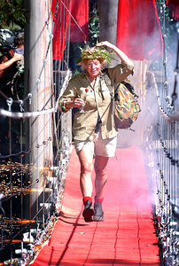 """Carol Thatcher exits the jungle in triumph after winning the 5th series of """"I'm A Celebrity... Get Me Out Of Here"""" - PHOTO: CAMERON LAIRD (Ph: +61 418238811)"""