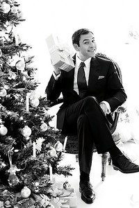 David Walliams.  Probably the most famous comic, along with his stage partner Matt Lucas, in the UK at the moment.  This was a shoot for Tesco's promoting Christmas.  He was fascinated by the speed of digital and was keen to assist in the editing process! Just wish that was on video - very funny man.