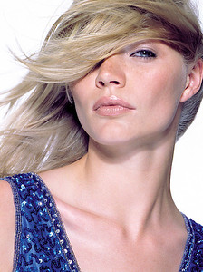 Jodie Kidd.  This was from a shoot for Pantene Styling range.