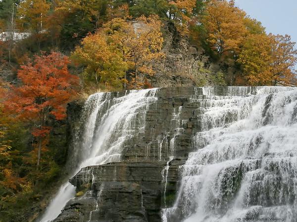 Ithaca Falls in Ithaca New York - October 21, 2009