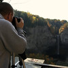 Bill taking a picture of Taughannock Falls - October 21, 2009