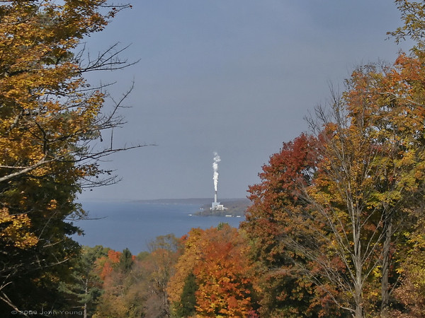 The power plant on Cayuga Lake - October 21, 2009