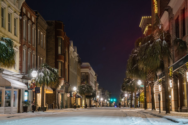 King Street on a Snowy Winter Night