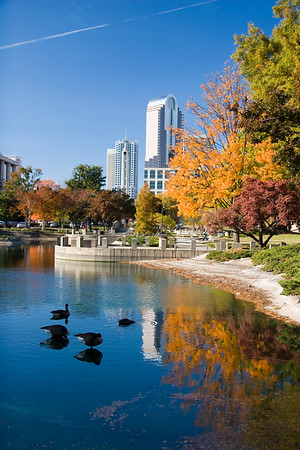 Marshall Park Lake in Charlotte