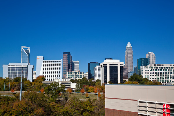 Charlotte Skyline in the Fall
