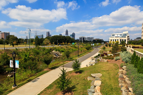 Charlotte's Little Sugar Creek Greenway at Kings Drive and Pearl Park Way
