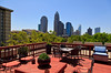 Charlotte skyline from the rooftop of The Poplar