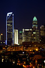 Charlotte Skyline  at Night