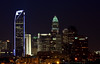 Charlotte Skyline - Duke Energy Center Tower lit up in blue.