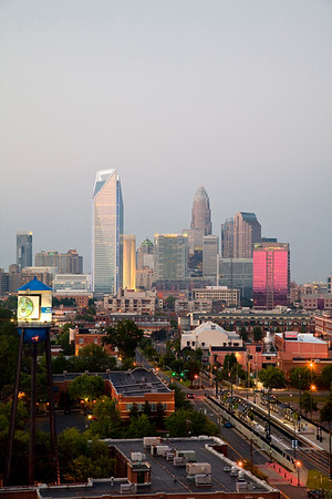 Charlotte Skyline Early Evening