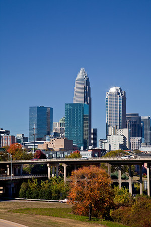 Charlotte Bank of America Towers and Hearst Tower