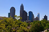 Charlotte skyline includes the Bank of America tower, the Hearst Tower and Duke Energy in the background