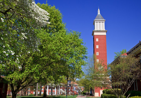 Evans Clock Tower on Queens Campus