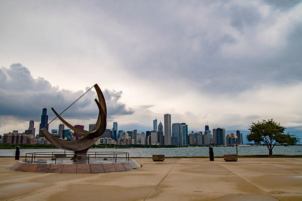 Chicago Cityscape From Adler Planitarium