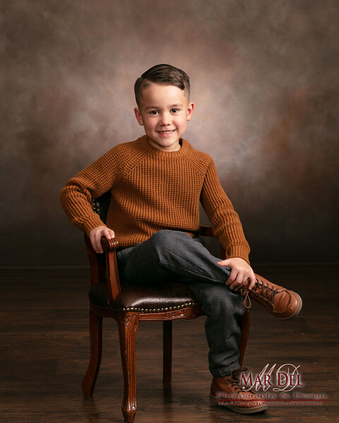 cool child in a chair