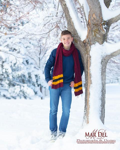 kid portrait in snow