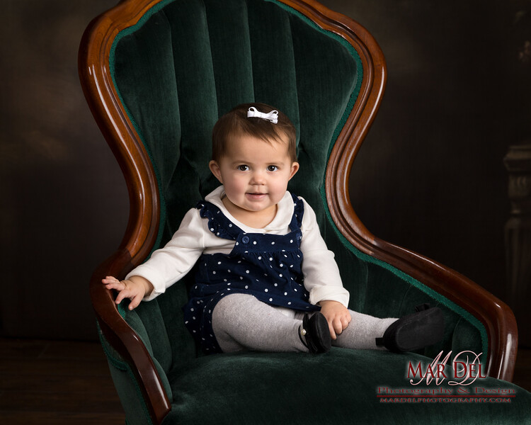 cute baby in chair