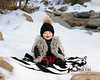 Portait of baby in snow