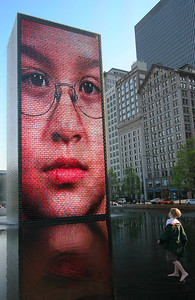 Face to Face at The Crown Fountain (Millennium Park, Chicago, IL)