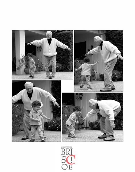 Kirk Douglas dances with grandson