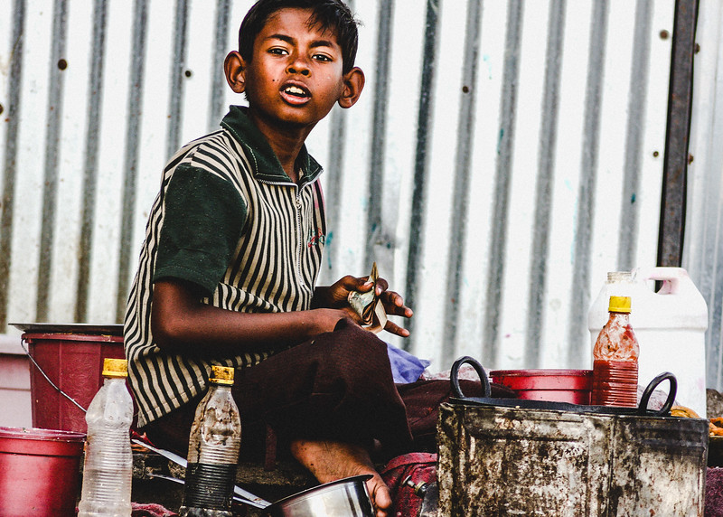 Indian Boy Street Food Seller