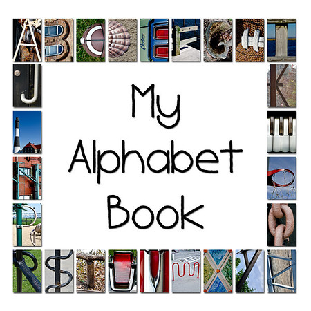 "6""x6"" Hardcover Children's Alphabet Book (White)"