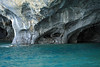 Marble sea caves - glacial milk water of Lago Carrera.