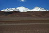 Nevado Tres Cruces - with Cerro Tres Cruces Norte (l), Central, and Sur (r) - this is the southwestern Puna de Atacama - the southern area of the Central Volcanic Zone - the southern Andean Plateau.