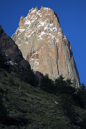 Slope of Mt. Almirante Nieto - to the granite spire of Torre Central - peaking at around 9,186 ft. (2,800 m).