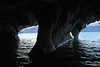 From a marble sea cave, along the western shoreline of Lago Carrera - part of the Capillas de Marmol Nature Santuary.