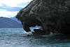From the waves breaking upon the marble, along the western shoreline of Lago Carrera (the largest fresh-water lake in Chile), located at about 722 ft (220 m) above sea level, and dropping to a maximum depth of around 1,900 ft (580 m) - here viewing eastward toward the arm of the lake leading to Argentina.