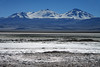 Across the northern end of Laguna Santa Rosa, and the Salar Maricunga - to Nevado Tres Cruces (Three Snowy Crosses) - with Cerro Tres Cruces Sur (r) forming the border with Argentina.