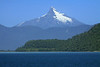 From the Encenada Chaiten (cove), the Pacific Ocean - across the forested eastern slope from Isla Puduguapi - to the Volcan Corcovado, peaking at around 7,546 ft. (2,300 m).