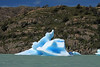 Iceberg along the rocky southeastern shoreline of Lake Grey - Torres del Paine National Park.