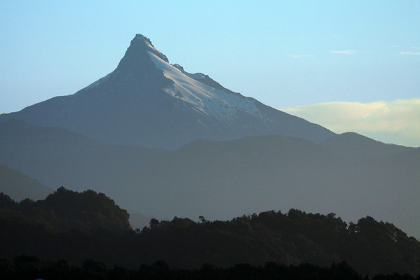 Sunset light upon Volcan Corcovado - western Palena province - Los Lagos region.