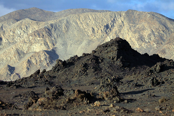 From the igneous rock to the steep slopes and cliff of the Cordillera Costa - Pan de Azucar National Park - Atacama region.