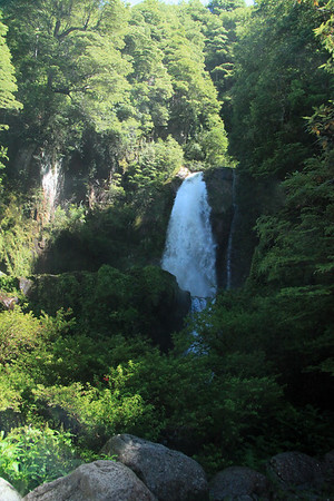 Upper cascade of the Virgen Waterfalls - Rio Simpson National Reserve - Aisen region.