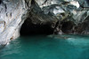 Marble sea cave - glacial milk water of Lago Carrera.