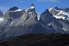 La Espada (the sword, l) - southern view of Cuernos del Paine (c), Norte-Principal-Este - and the Mt. Almirante Nieto (distal, r).