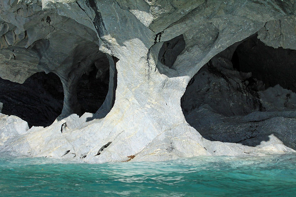 From the glacial rock flour water of Lago Carrera - to the sunlight and shadows upon the metamorphic calcite marble aches, column, and sea caves.