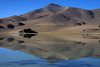 Morning reflection of Cerro Pastillitos, upon the calm water of Laguna Santa Rosa, at about 12,140 ft.(3,700 m) - this is the southern area and lowest altitude lagoon of the Puna or Altiplano, the Andean Plateau.