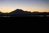Twilight dawn across the Salar Ascotan - and the l to r is: Cerro Tapaquilcha, Cerro Cachi Laguna, the large central Cerro Araral, Cerro Ascotan Ramaditas, Cerros Inca, and Cerro Cebollar Viejo.